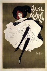 Vintage Jane Avril Advertising Poster.